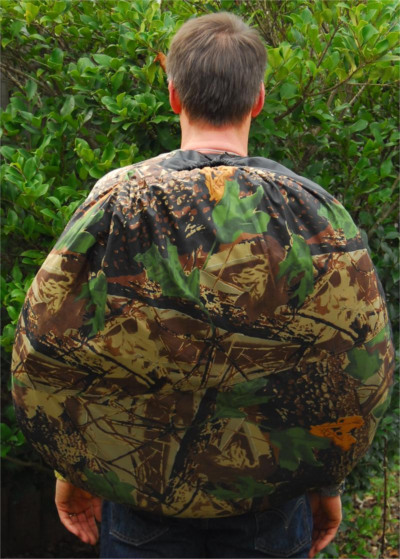 Backpack Ground Blind With Ghillie Cover