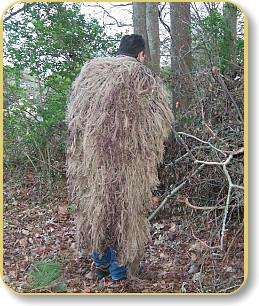 Ghillie Suits Cover Large 3'X 4' - Leafy Grün