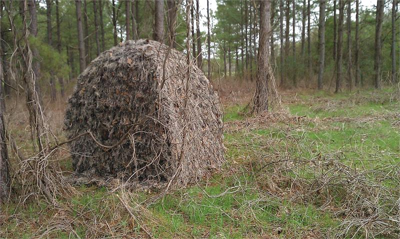 Mossy cover & Backpack Ground Blind with Ghillie cover