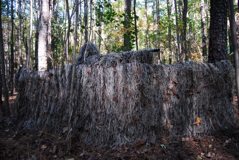 Folding Blind With Bag Ghillie Blind Cover