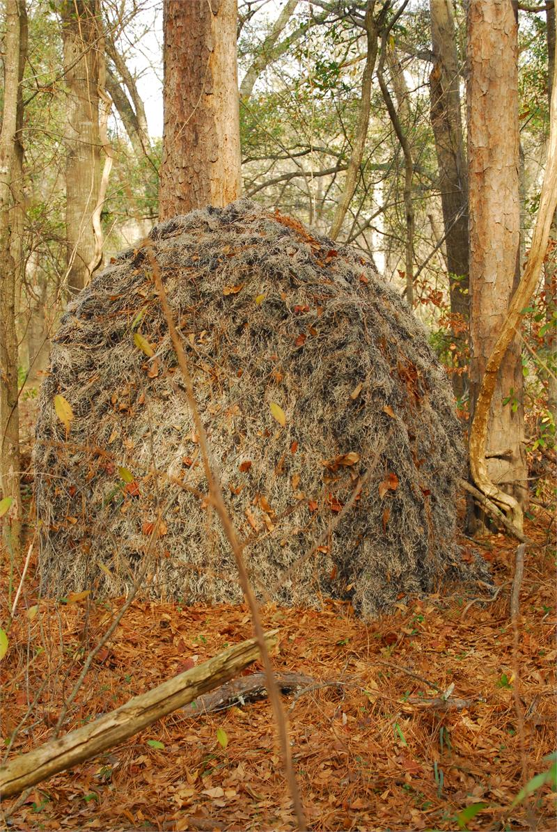 Ghillie Ground Blind Cover For Double Blind Or Hunting Blinds